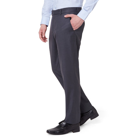 Wool Blend Blue Trouser