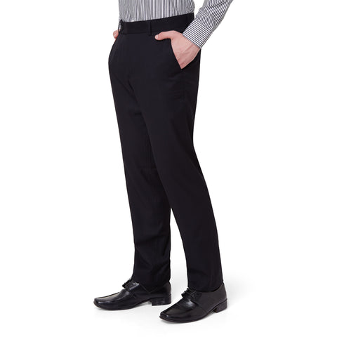Wool Blend Black Trouser