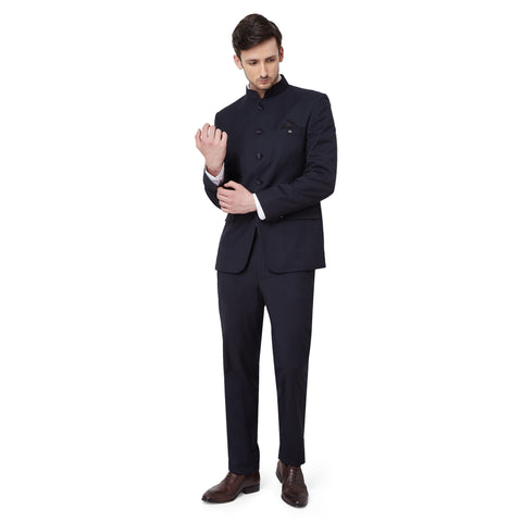 Midnight Blue Bandhgala Suit