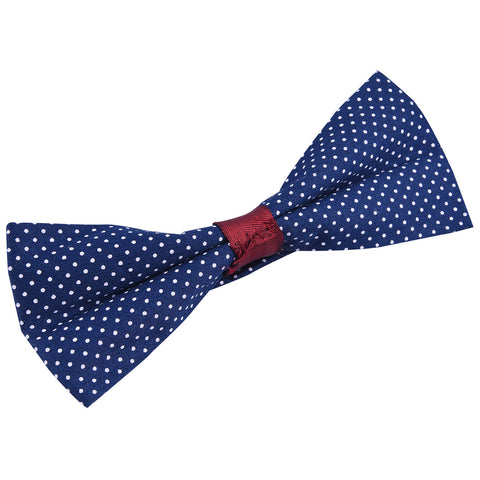 Rent- Classic Blue Polka Dotted Bow Tie