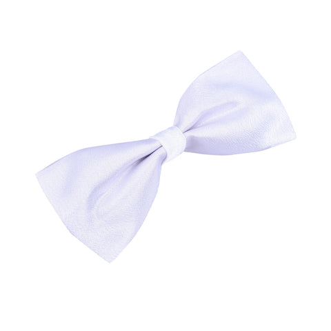 Satin White Bow Tie