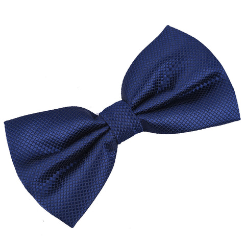 Satin Navy Blue Bow Tie