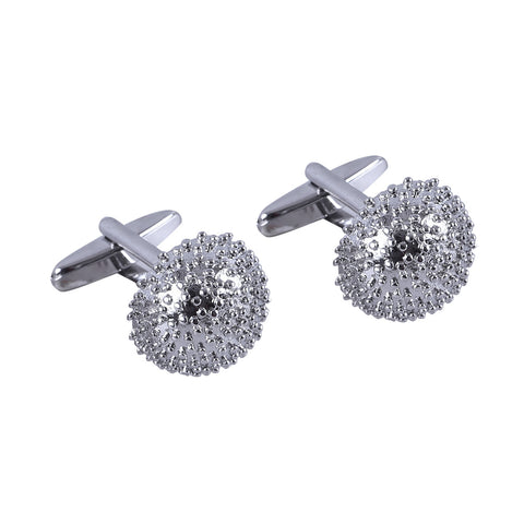 Metal Rounded Spike Cufflinks