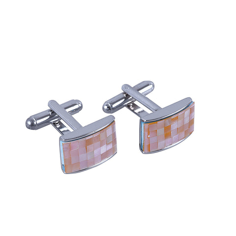 MOP Mosaic Orange Hue Cufflinks