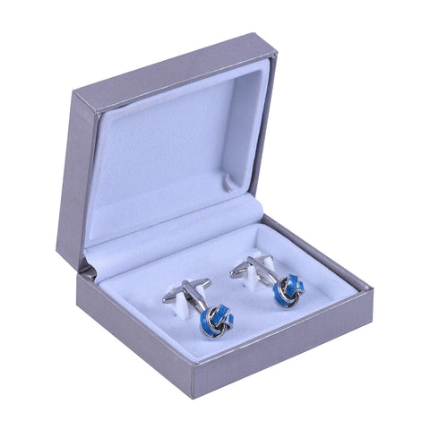 Rent- Blue Mystery Knot Cufflinks