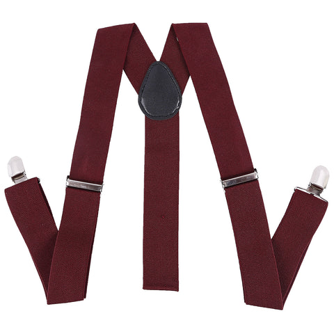 Red Twill Suspenders