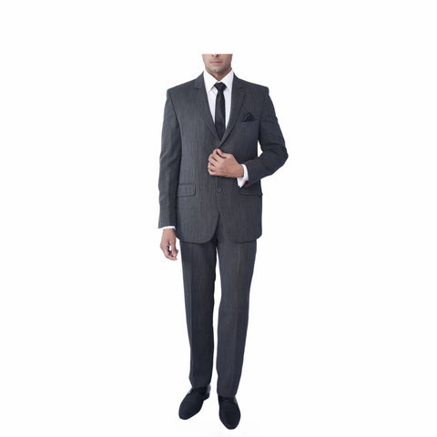 Rent- Charcoal- Grey High Twist Pinstripe Suit