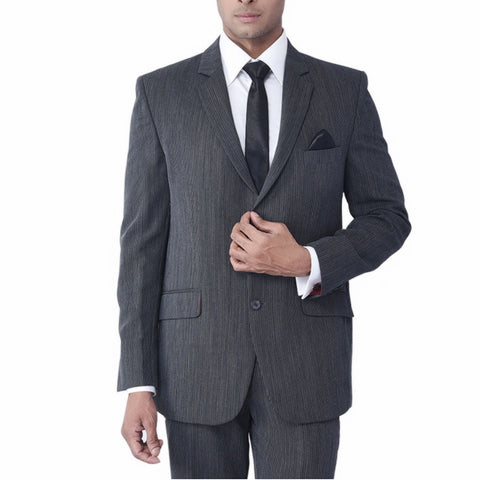 Charcoal- Grey High Twist Pinstripe Suit