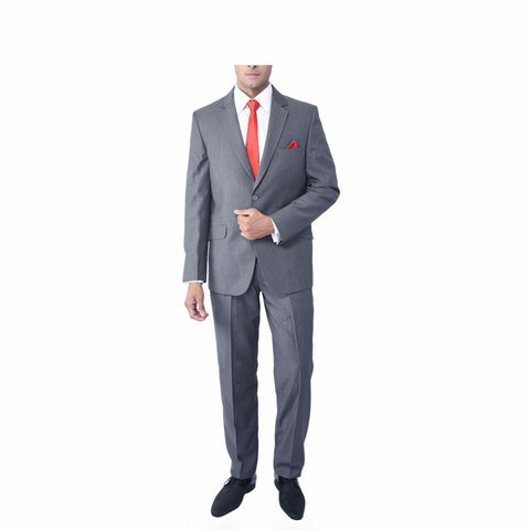 Rent- Light Grey Microdot Suit
