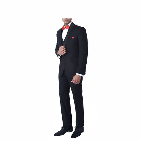 Rent- Solid Black Tuxedo Suit