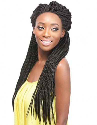 Box Braids Lace Front Wig Unit