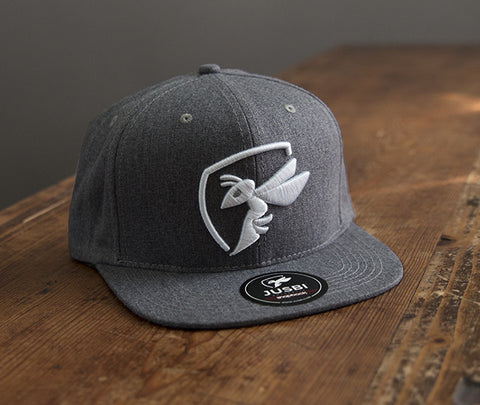Jusbi - Snapbacks Jusbi™ Icon Snapback - Charcoal Grey/White