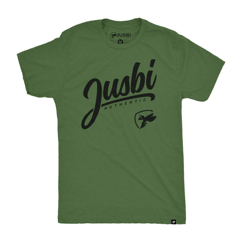 Jusbi™ Authentic Tee - Combat Green/Black