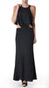 Cruz Maxi Cut Out Dress in Black Evenuel Boulee