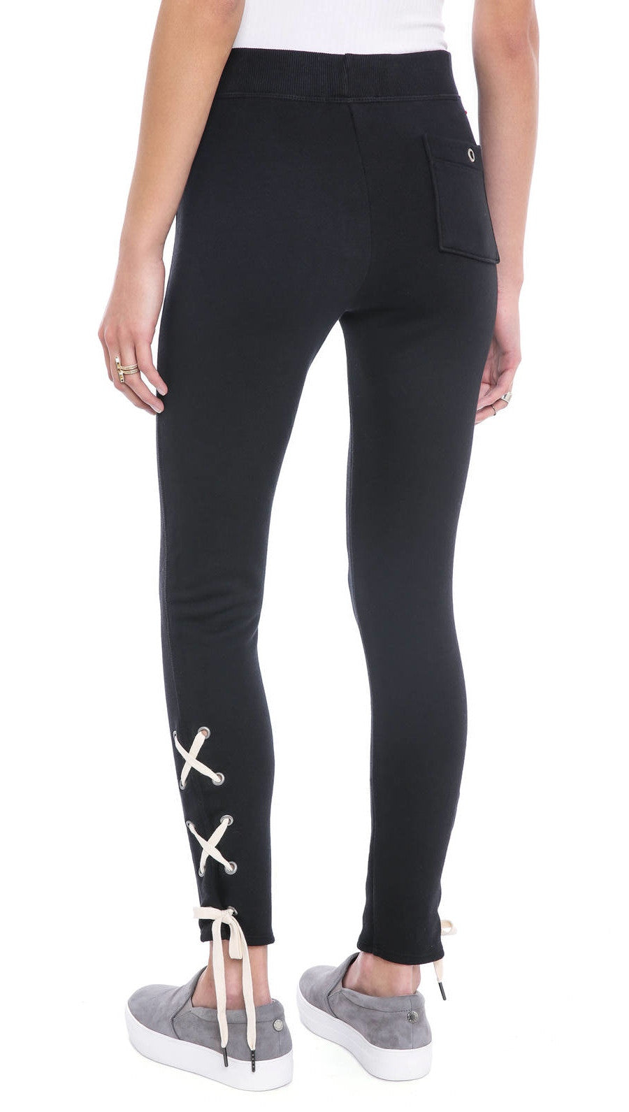 n:Philanthropy Emery Lace Up Ankle Sweatpants Black