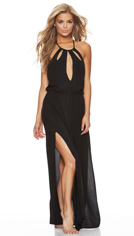 On The Horizon Cover Up Maxi Dress Black by Beach Bunny Swimwear