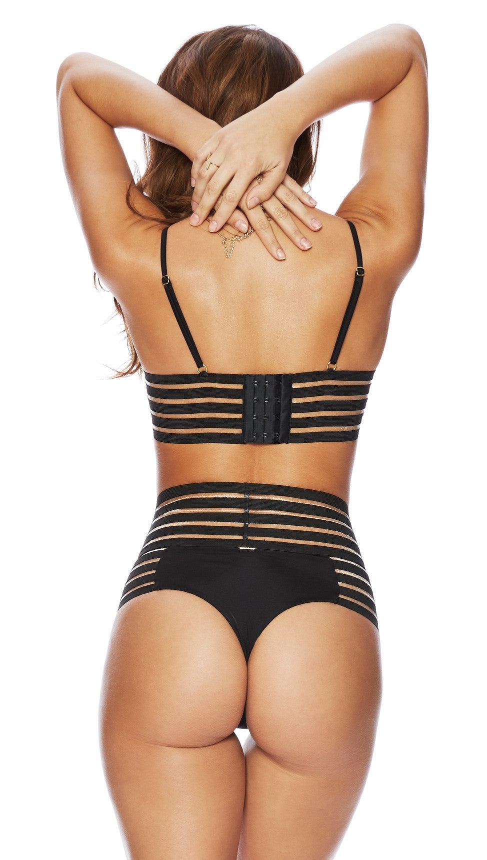 beach bunny swimwear sheer addiction bikini black
