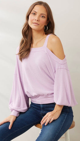 Free People Flaunt It Pullover Tee Magical Lilac Purple Top I ShopAA
