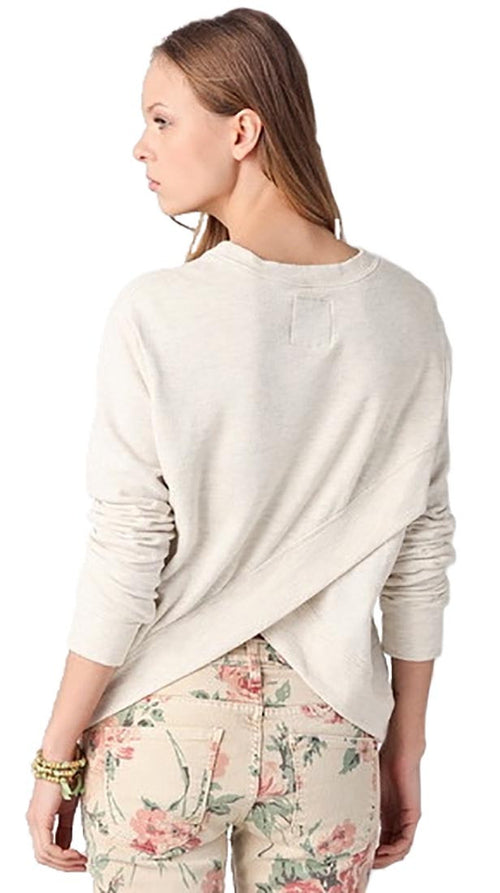 291 Venice Cross Back Pullover in Oatmeal