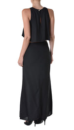 Cruz Maxi Dress in Black by Evenuel Boulee Open Back Long Dress