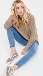 Free People Easy Goes It Denim Legging Light Wash Pants