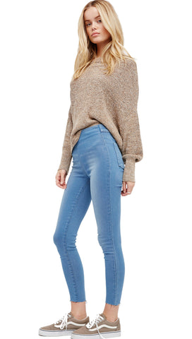 Free People Easy Goes It Denim Legging Light Wash Jegging