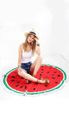 Watermelon Round Fringe Beach Towel Throw