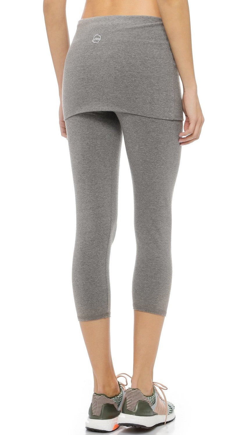 So Low Foldover Skirt Cropped Leggings Medium Heather Grey