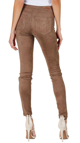 Suede Skinny Pants Legging Taupe Camel Sneak Peek