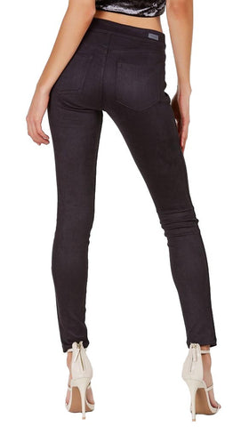 Suede Skinny Pants Legging Black Sneek Peak