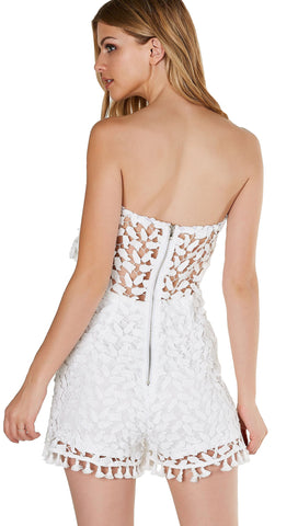 Crochet We Go Tube Romper White