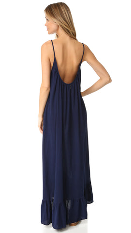 9Seed Paloma Cover Up Maxi Dress Pacific Navy Blue | ShopAA