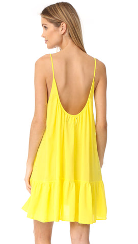 9Seed St Tropez Ruffle Cover Up Mini Dress Sunshine Yellow | ShopAA