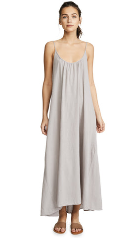 9 Seed Tulum Maxi Swim Cover Up Gauze Dress Pebble Grey | ShopAA