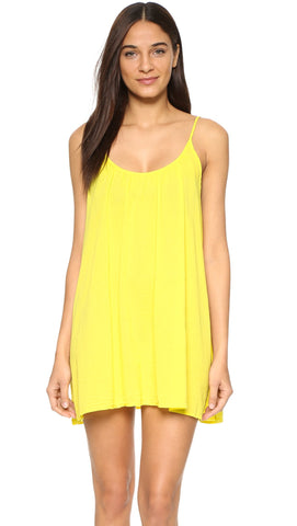 9Seed St. Barts Mini Dress Gauze Swim Cover Up Sunshine Yellow ShopAA