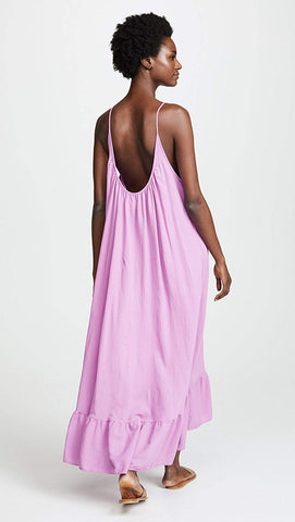 9Seed Paloma Cover Up Maxi Dress Petal Pink Purple | ShopAA