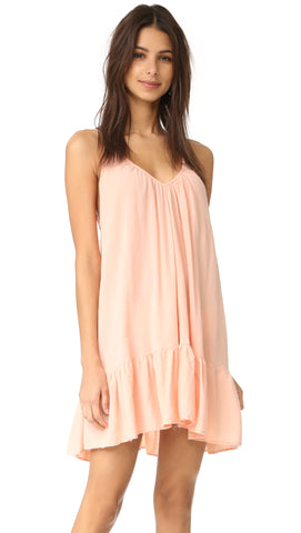 9Seed St Tropez Ruffle Cover Up Mini Dress Rose Gold Pink Blush ShopAA