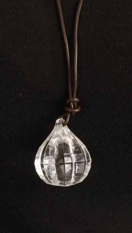 Apparel Addiction Crystal Necklace in Clear