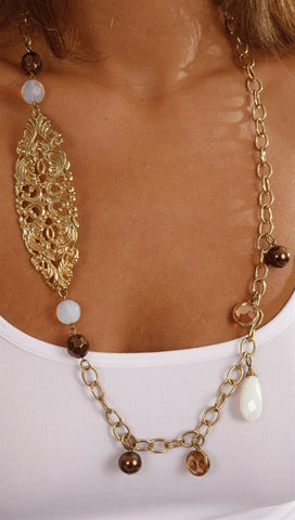 Apparel Addiction Jewelry Asymmetrical Gold Necklace