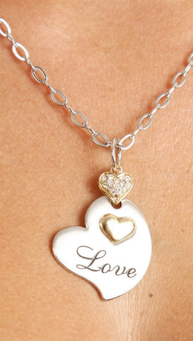 "Apparel Addiction Gold and Silver ""Love"" Necklace"