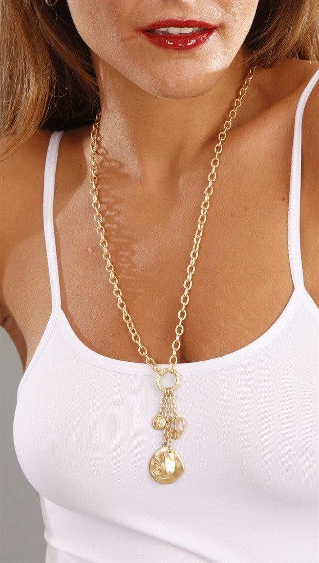 Apparel Addiction Gold Peace Dove Necklace