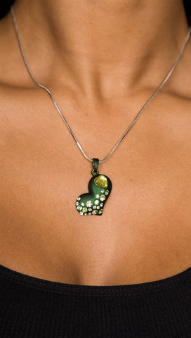 Apparel Addiction Heart Necklace Green