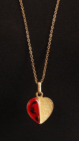 Aparel Addiction Half Heart Necklace