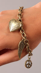Apparel Addiction Locket Charm Bracelet