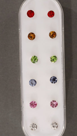 Apparel Addiction Multi-Colored Earring Set