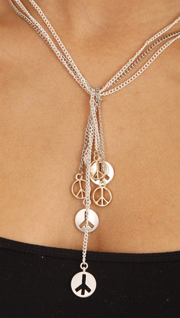 Apparel Addiction Jewelry Peace Knot Necklace