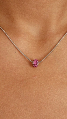 Apparel Addiction Jewelry Pink Stone Bead Necklace