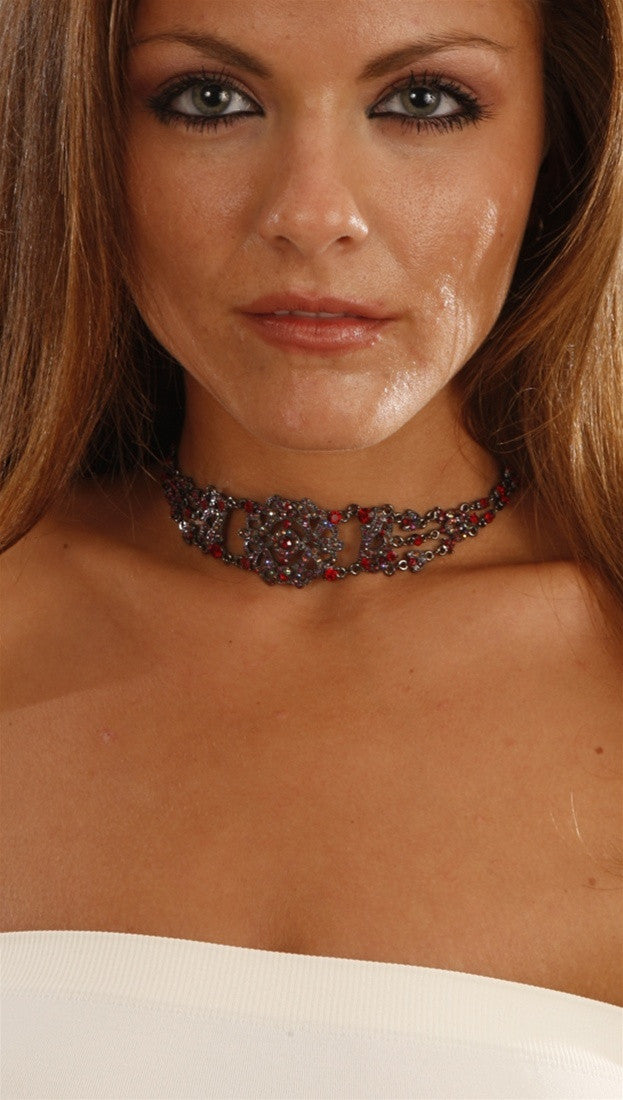 Apparel Addiction Jewelry Vintage Red Choker