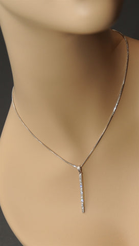 Apparel Addiction Diamond Drop Necklace