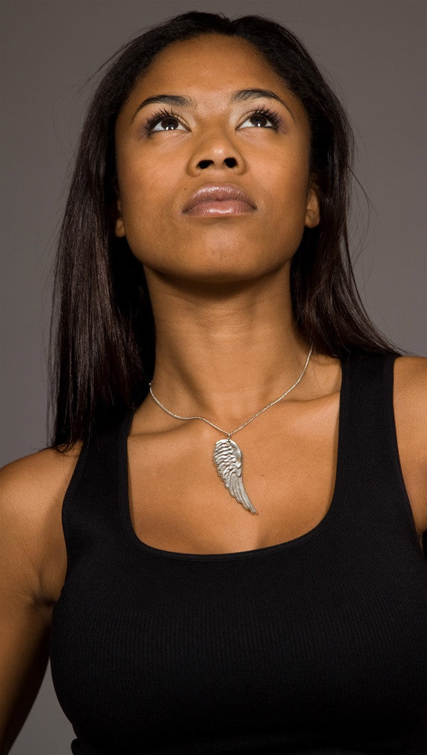 Apparel Addiction Wing Necklace Silver